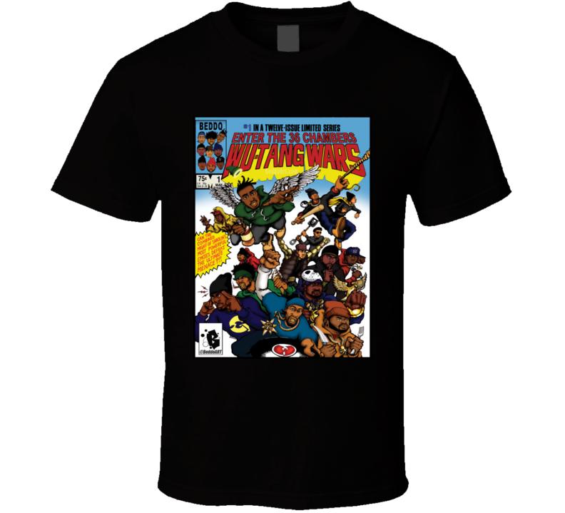 Wu-tang B E D D O Mash Up - Enter The 36 Chambers - Comic Book Mash Up T Shirt