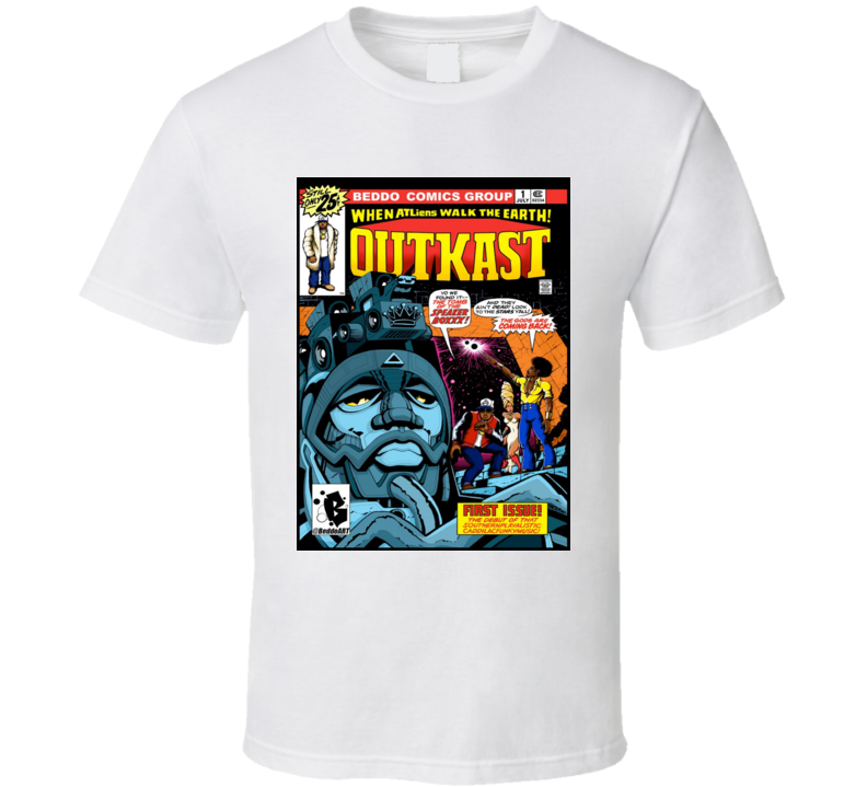 Outkast - B E D D O Hip Hop Legened Comic Mash Up - Sperboxxx  T Shirt