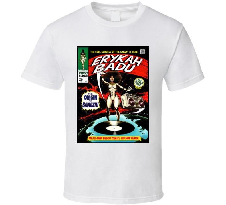 Erykah Badu - B E D D O Mash Up - Hip Hop Legends T Shirt