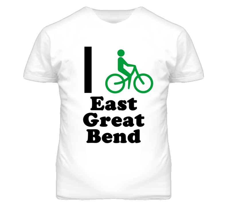 East Great Bend Kansas I Bike Green T Shirt
