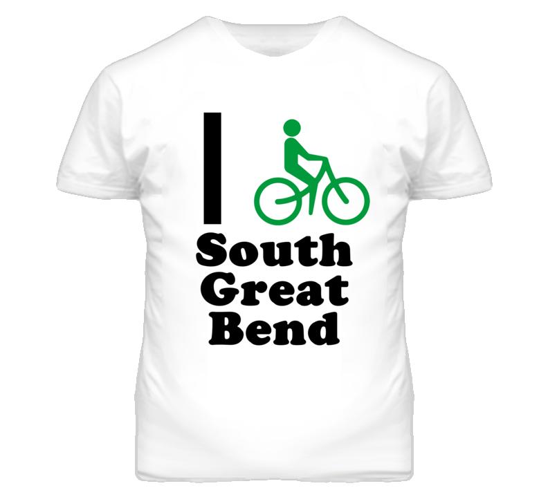 South Great Bend Kansas I Bike Green T Shirt