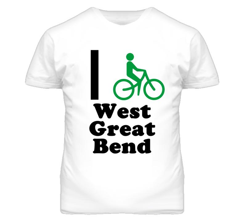 West Great Bend Kansas I Bike Green T Shirt