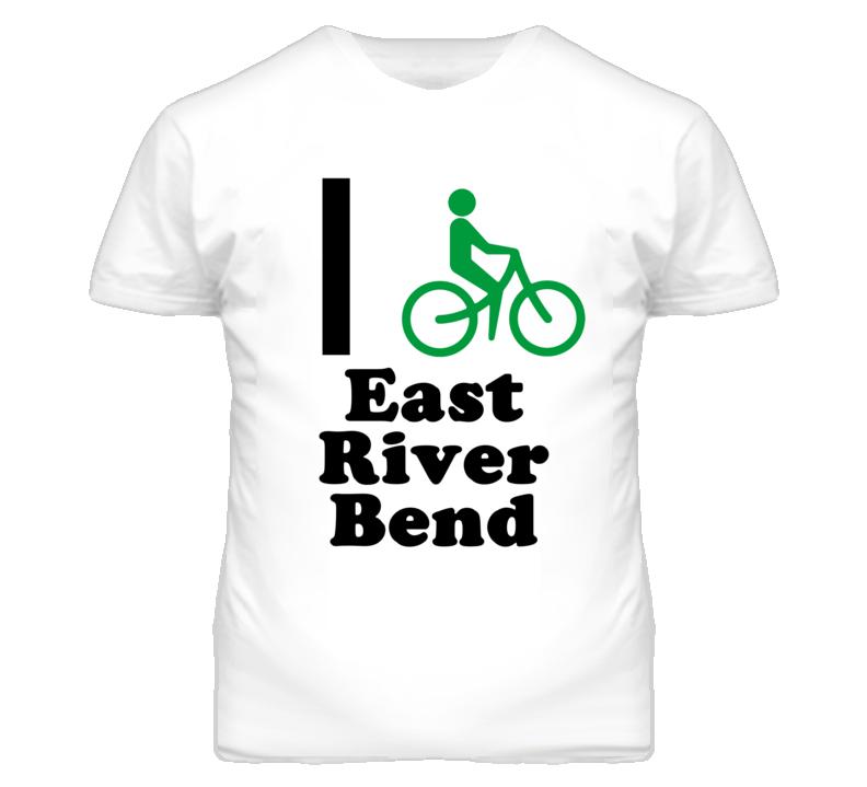 East River Bend Missouri I Bike Green T Shirt