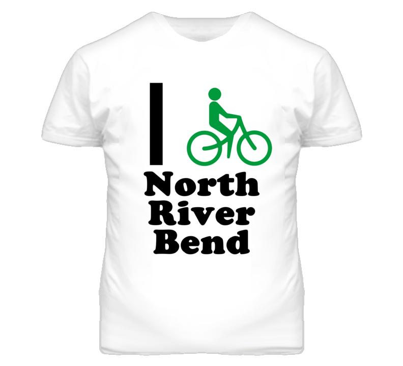 North River Bend Missouri I Bike Green T Shirt