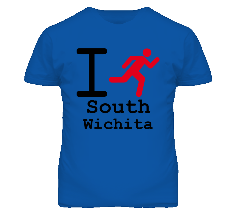 South Wichita Kansas I Run Green T Shirt