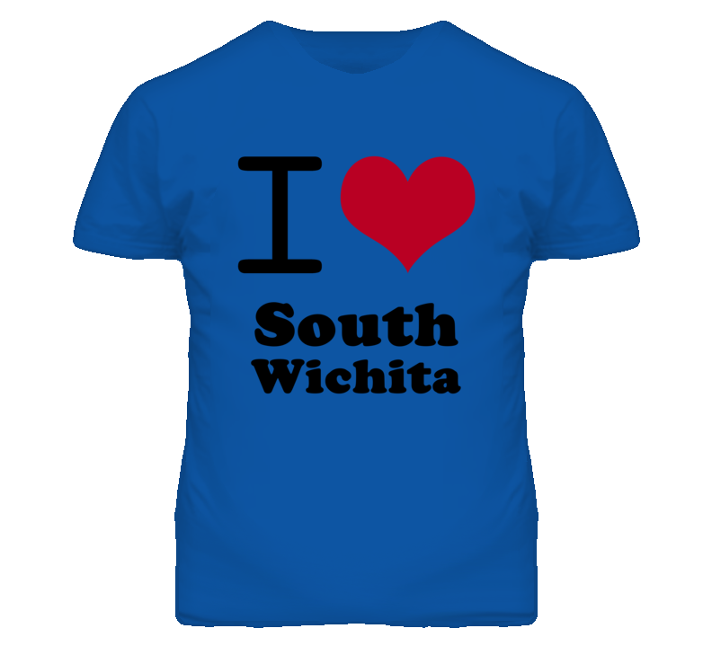 South Wichita Kansas I Heart Love Green T Shirt