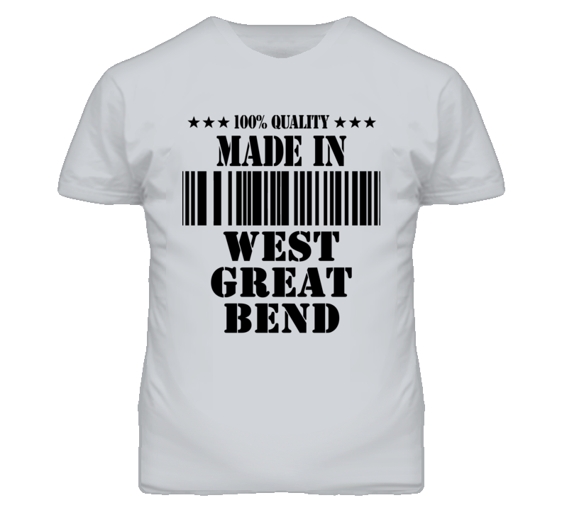 West Great Bend Kansas Made In Born Sport Grey T Shirt