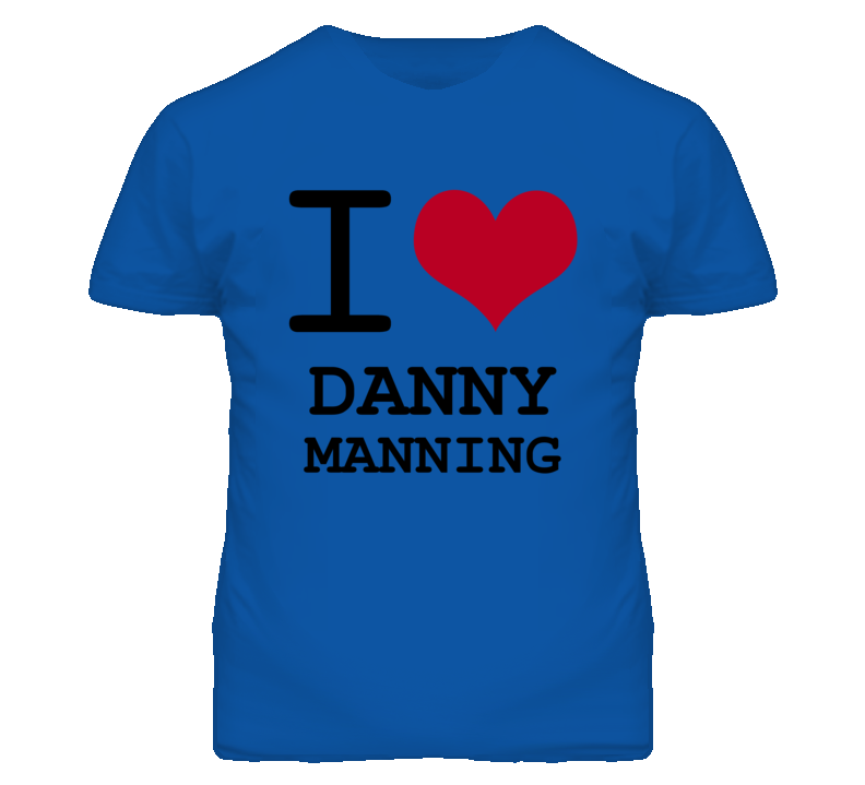 Danny Manning Kansas Sports I Love Heart T Shirt