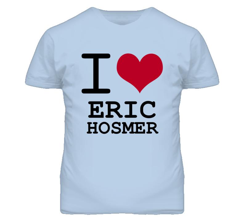 Eric Hosmer Kansas Sports I Love Heart T Shirt