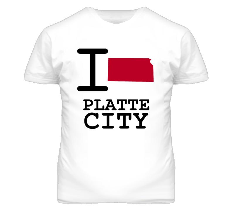Platte City Missouri I Heart Love State T Shirt