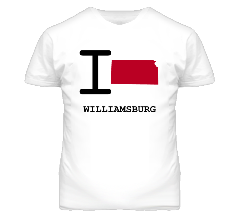 Williamsburg Kansas I Heart Love State T Shirt