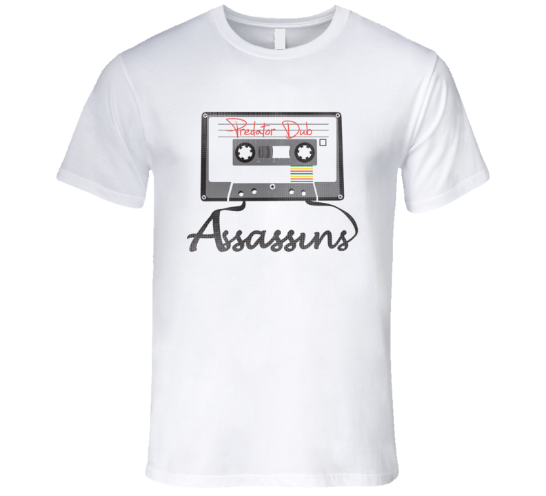PDA Cassette Era blk print T Shirt