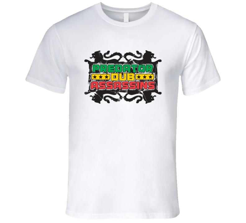 PDA 4 Lions blk print T Shirt