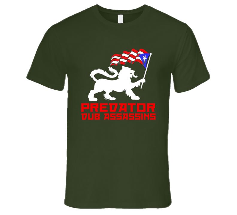 PDA Puerto Rico Lion wht print (Olive) T Shirt