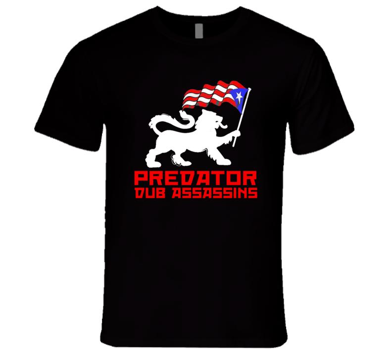 PDA Puerto Rico Lion wht print (Black) T Shirt
