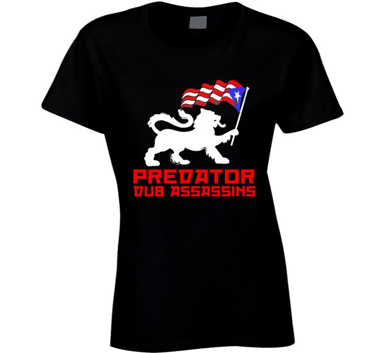 PDA Puerto Rico Lion (Ladies) wht print (Black) T Shirt