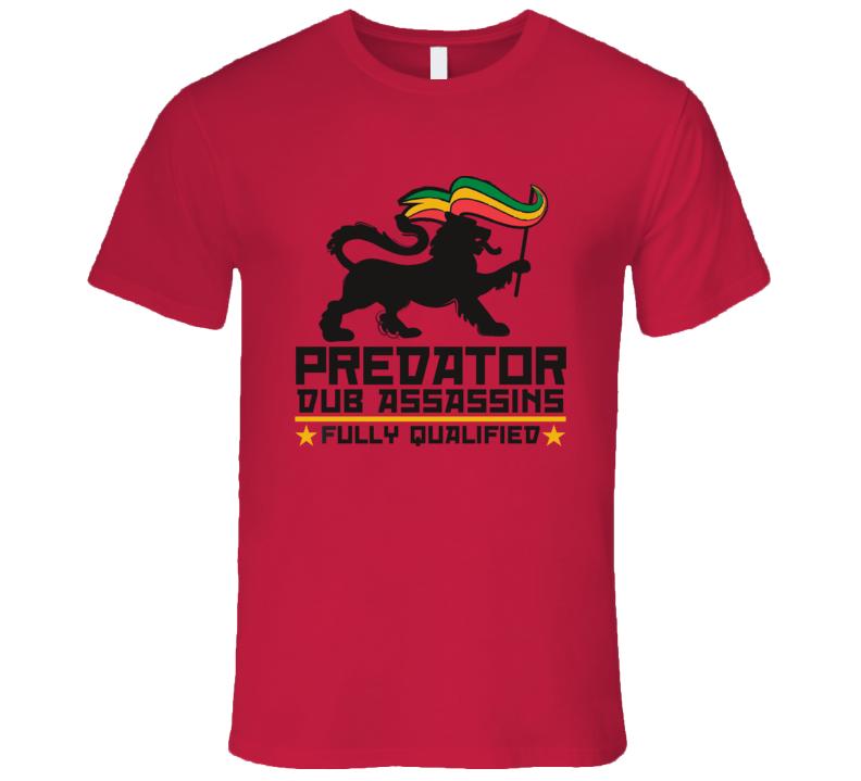 PDA FQ blk print (Red) T Shirt