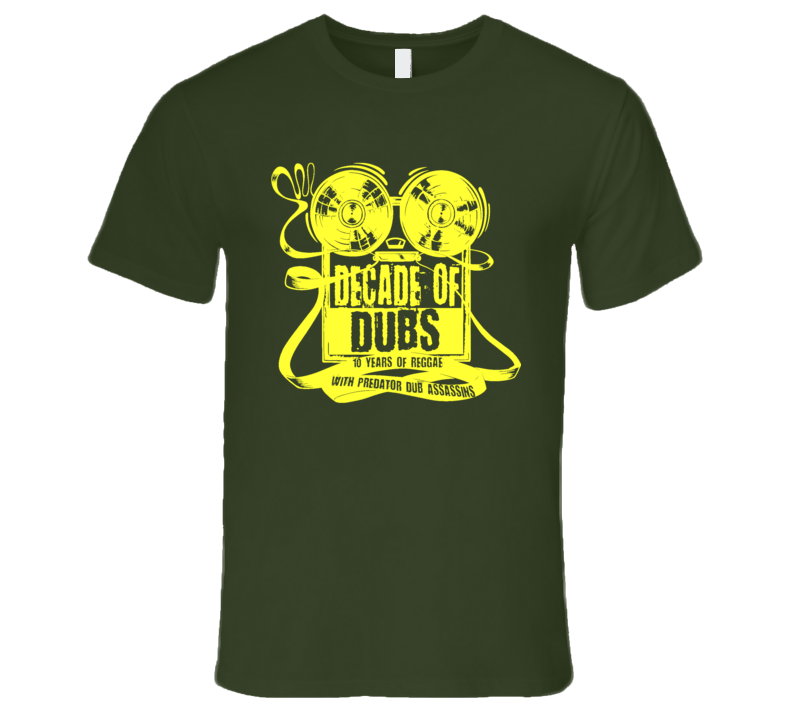 PDA DoD yellow print (olive) T Shirt