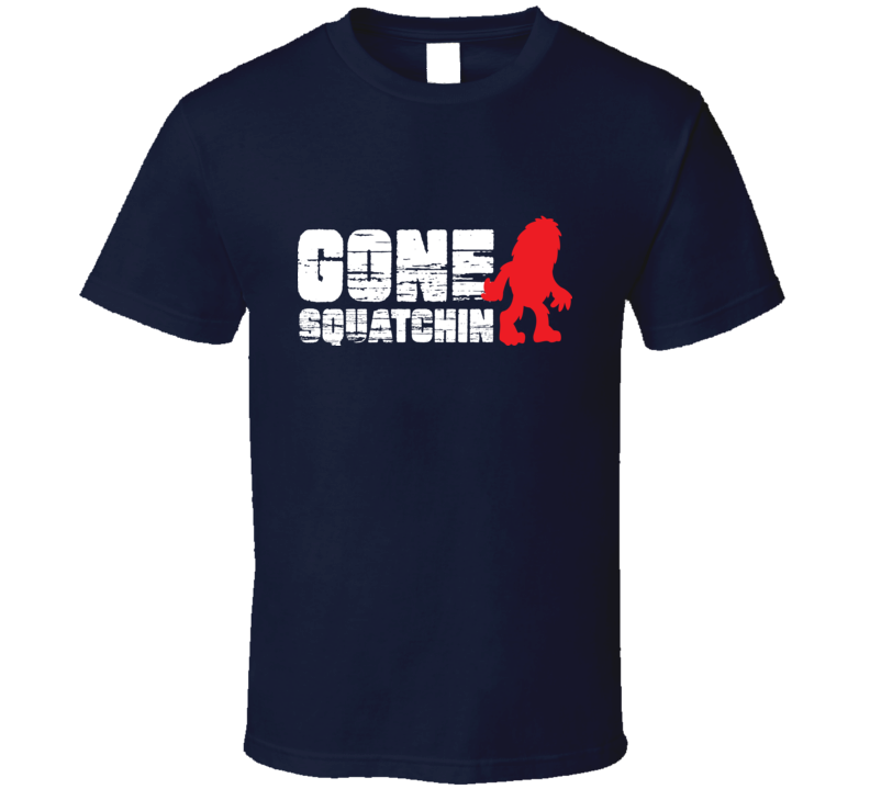 Gone Squatchin Shirt Navy