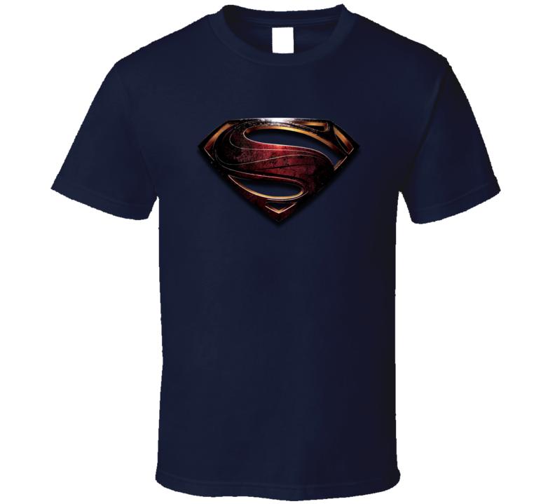 Man of Steel Navy Blue T Shirt