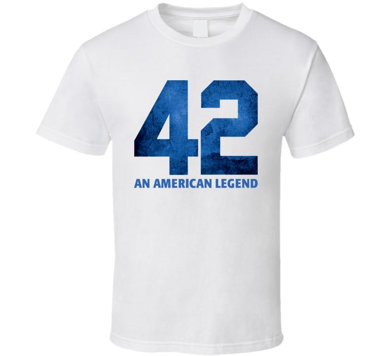 Jackie Robinson 42 Movie White T Shirt