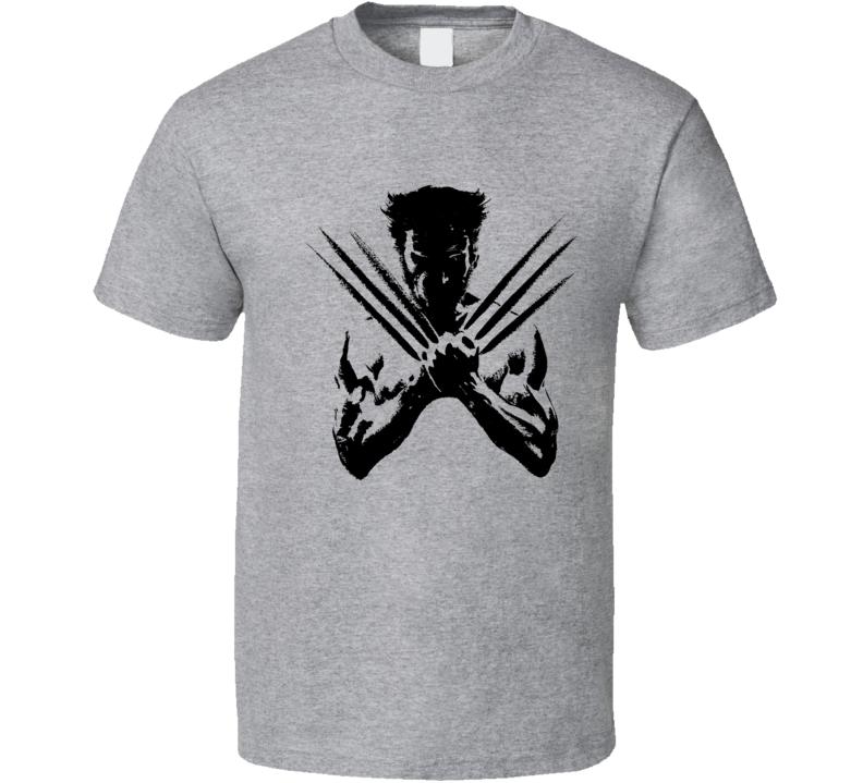 Wolverine Hugh Jackman Inspired T Shirt