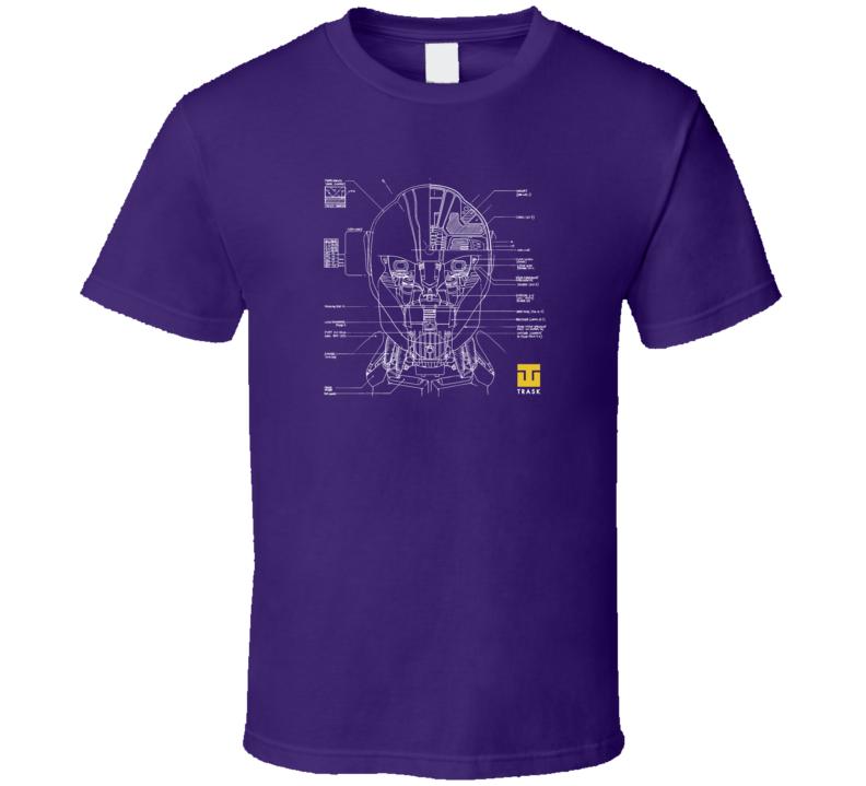 X Men Days of Future Past Trask Industries Sentinel Blueprint T Shirt