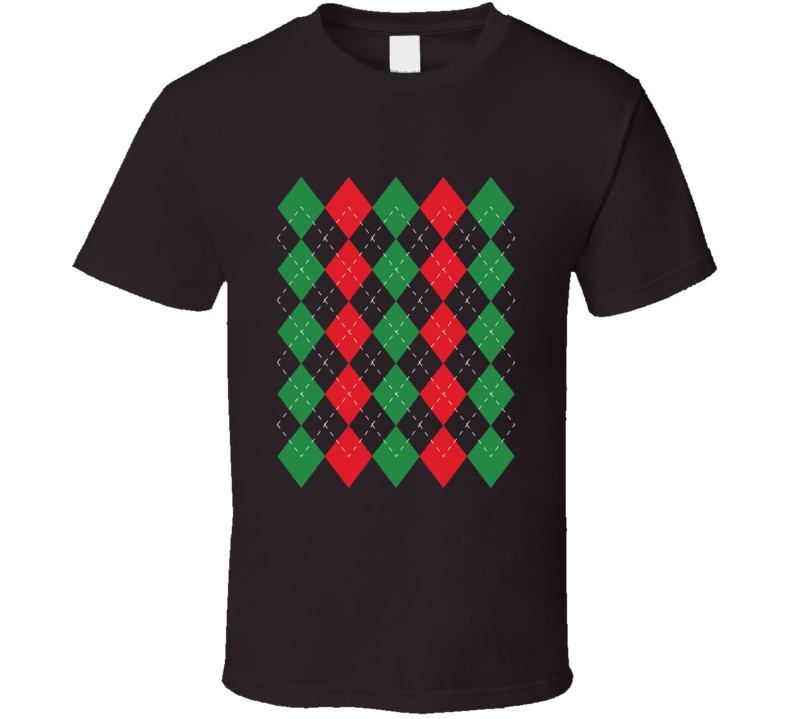 The Scholar Christmas Argyle T Shirt