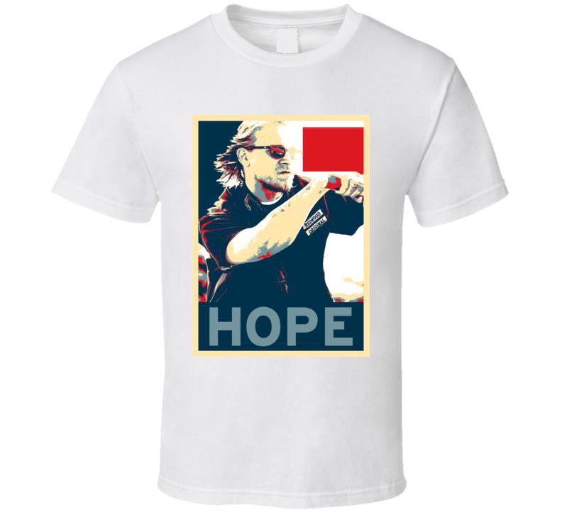 Charlie Hunnam Jax HOPE poster T Shirt