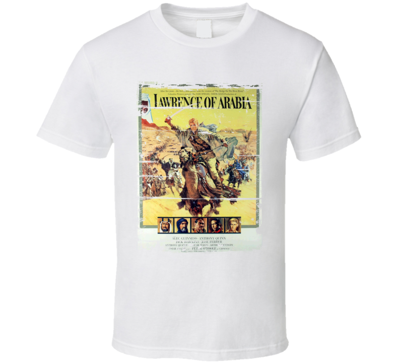 Lawrence of Arabia  Classic Movie Poster Aged Look T Shirt