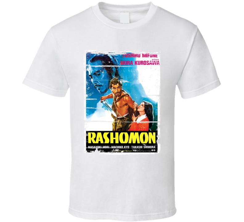 Rashomon Classic Movie Poster Aged Look T Shirt