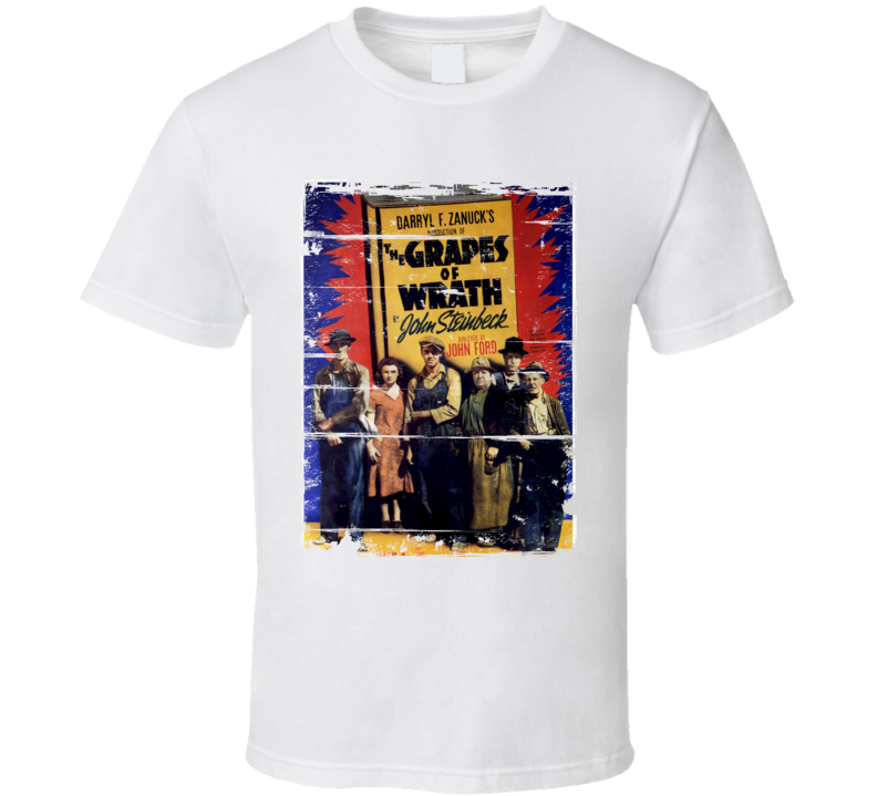 The Grapes of Wrath  Classic Movie Poster Aged Look T Shirt