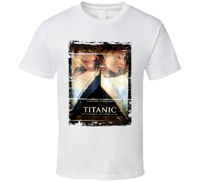 Titanic  Classic Movie Poster Aged Look T Shirt