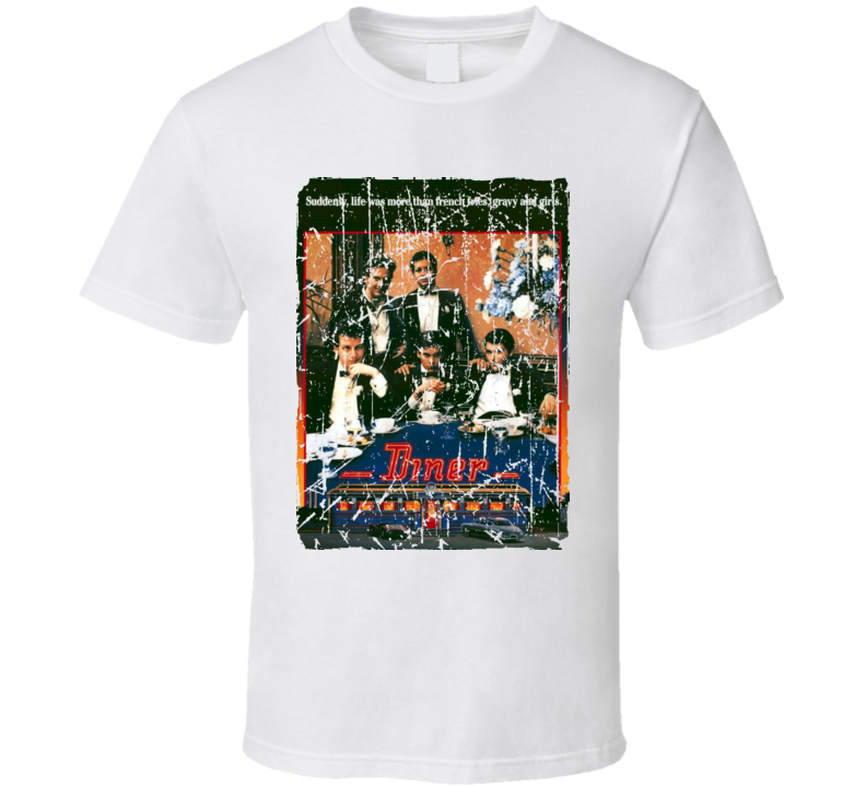 Diner Movie Poster Retro Aged Look T Shirt