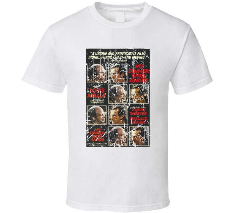 My Dinner With Andre Movie Poster Retro Aged Look T Shirt