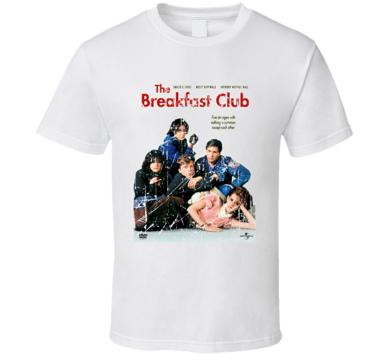 The Breakfast Club Movie Poster Retro Aged Look T Shirt