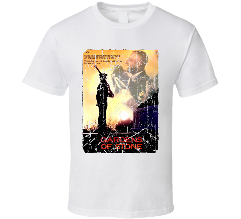 Gardens Of Stone Movie Poster Retro Aged Look T Shirt