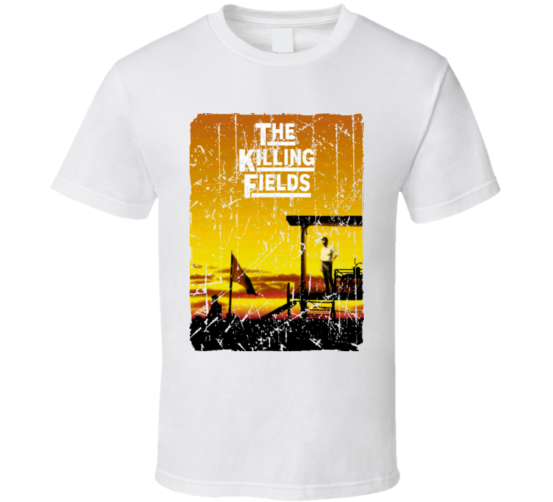 The Killing Fields Movie Poster Retro Aged Look T Shirt