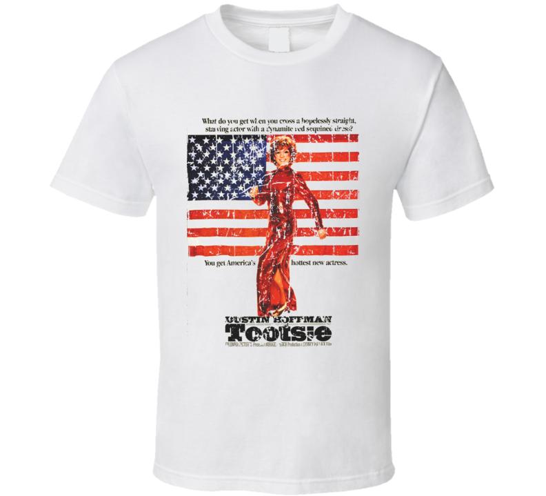 Tootsie Movie Poster Retro Aged Look T Shirt