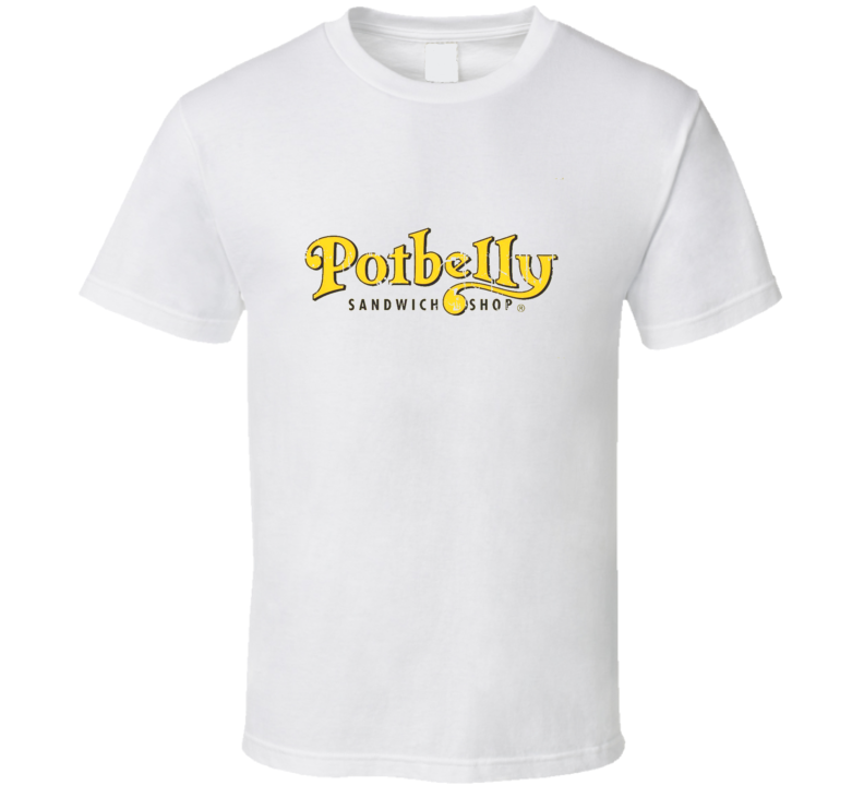 Potbelly Sandwich Works Fast Food Restaurant Distressed Look T Shirt