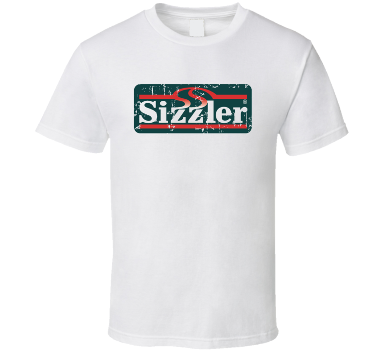 Sizzler Fast Food Restaurant Distressed Look T Shirt
