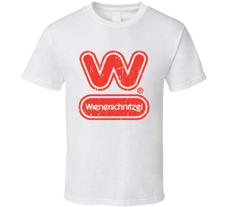 Wienerschnitzel Fast Food Restaurant Distressed Look T Shirt