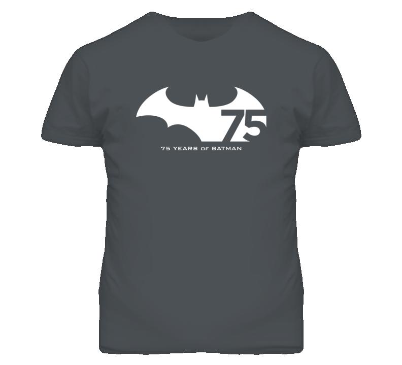 75 Years of Batman Anniversary White Logo Tshirt