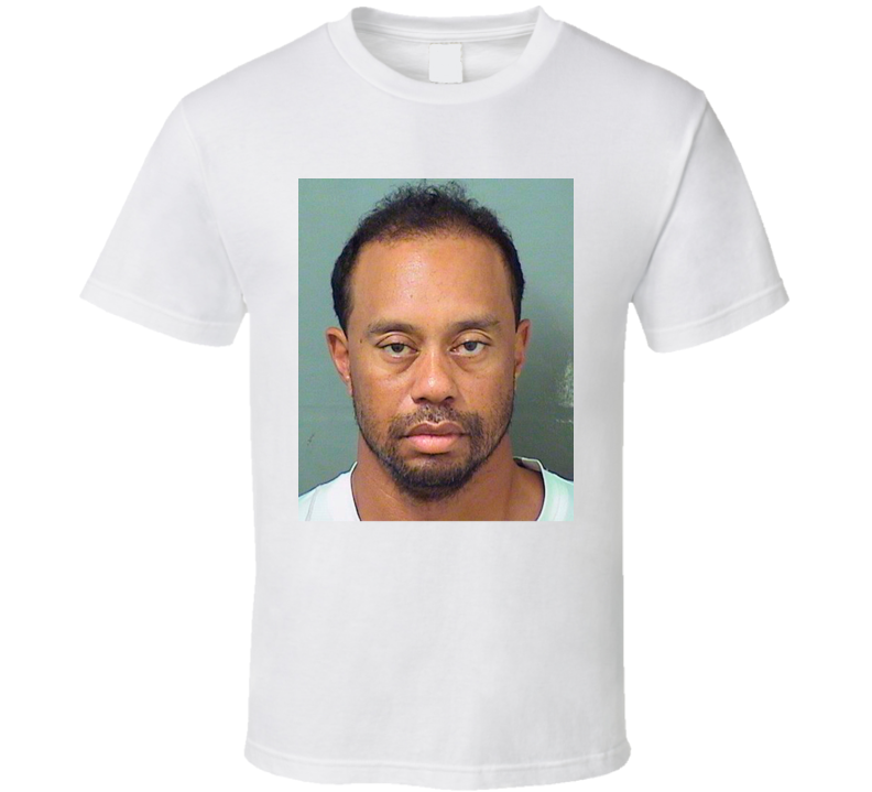 Tiger Woods Mug Shot T Shirt
