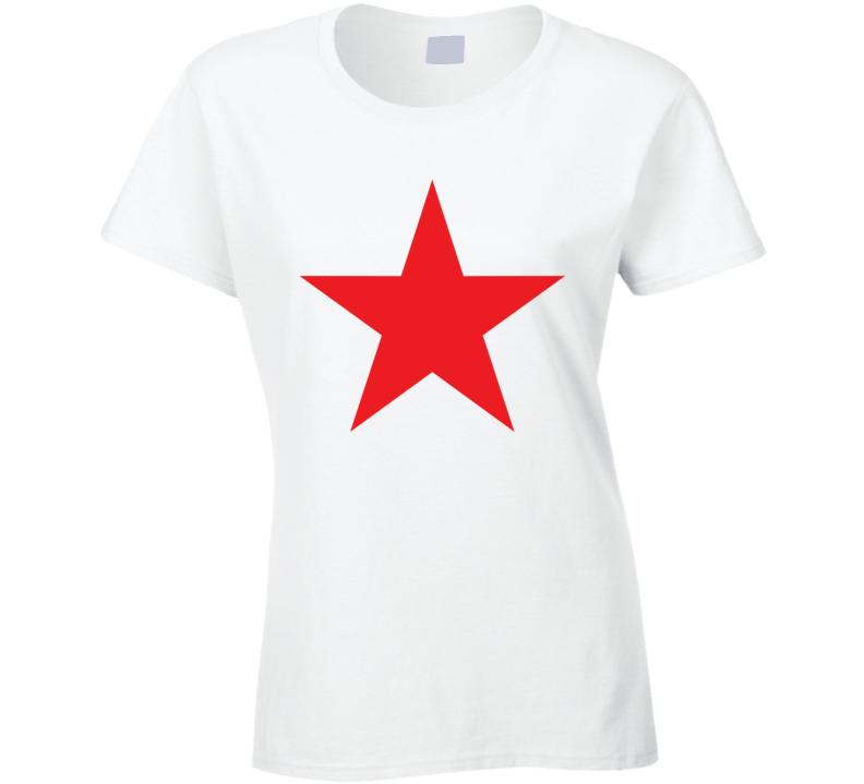 Red Star Sharon Tate Inspired Ladies T Shirt