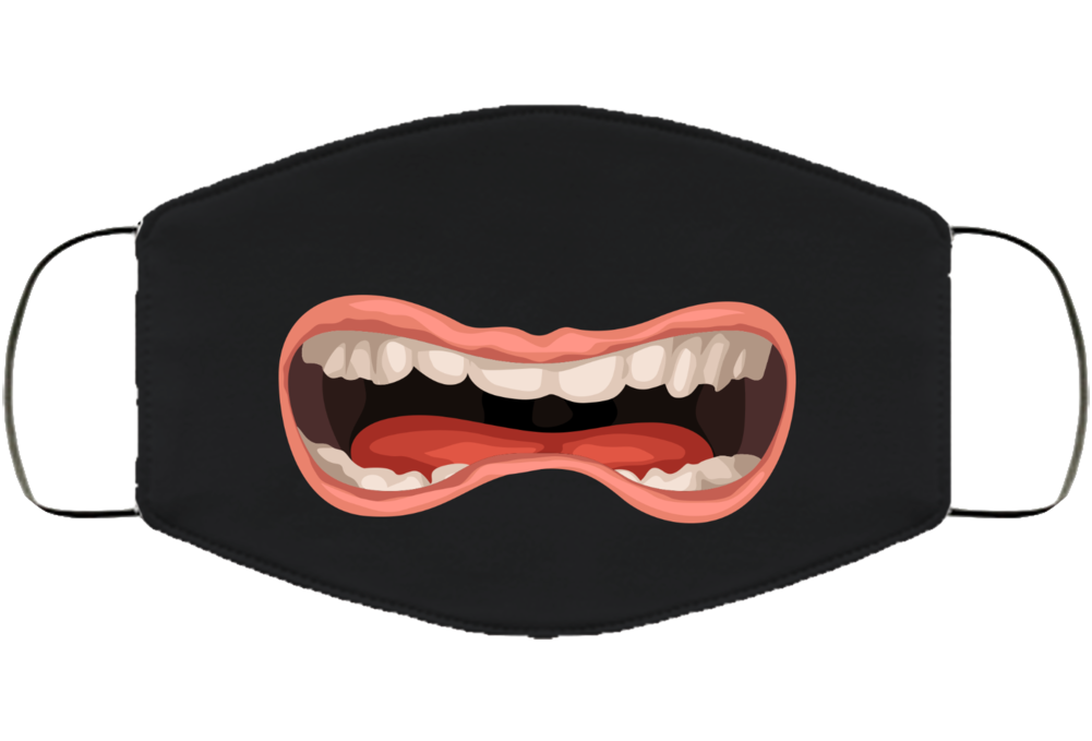 Funny Mouth Covid Face Mask Cover