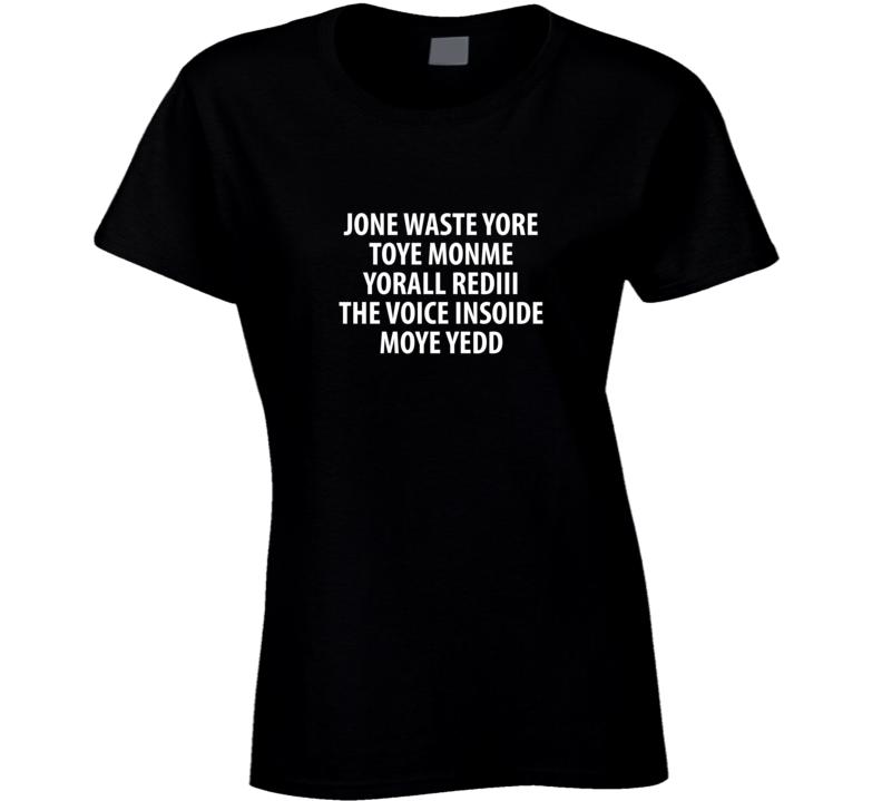 Blink 182 Translation Ladies T Shirt