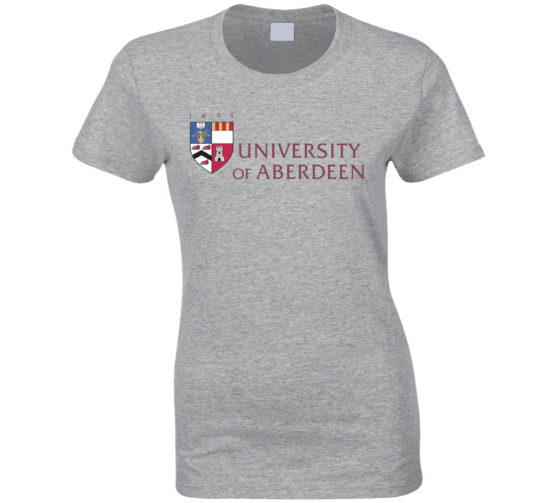 University Of Aberdeen Logo Ladies T Shirt