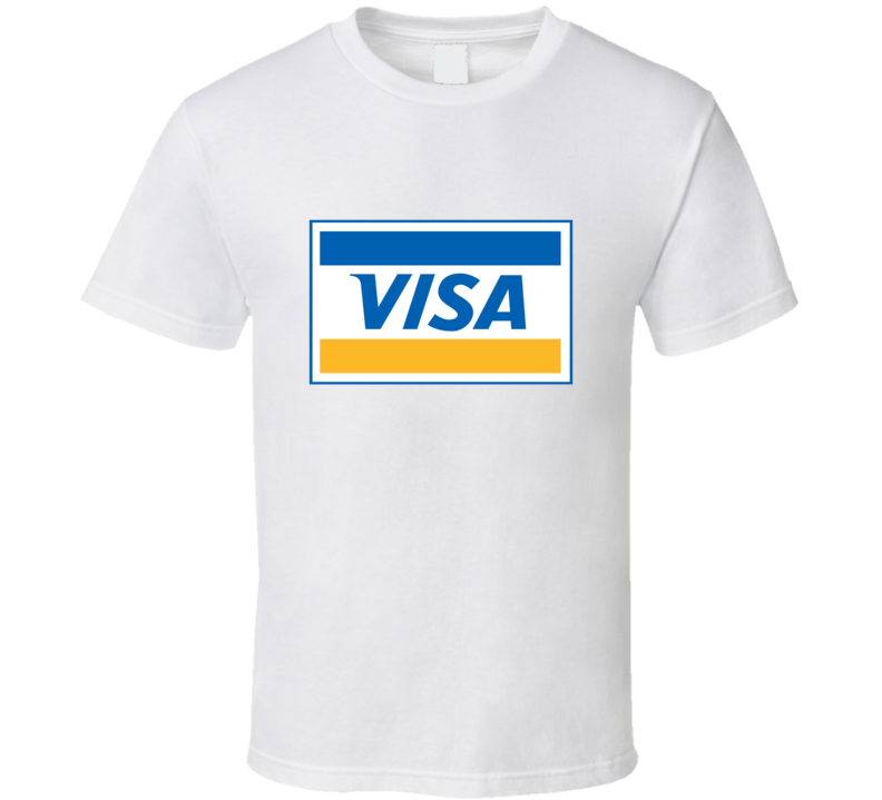 Visa Credit Card Logo T Shirt