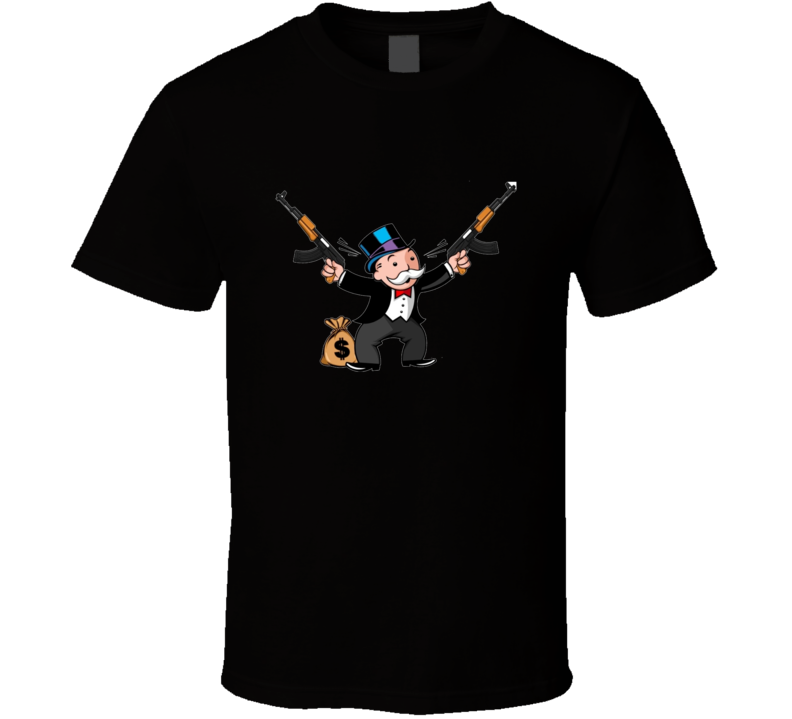 Monopoly Man Rich Uncle Pennybags T Shirt